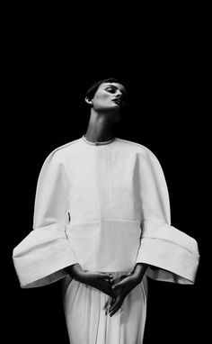 Rick Owens / Structured jacket with rounded silhouette & sculptural 3D sleeves