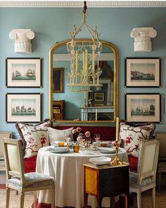 Design Studio London, Interior Design London, Interior Design Studio, Pierre Frey, Traditional Interior, Contemporary Interior, Dining Room Blue, Cottage Living Rooms, Beautiful Dining Rooms