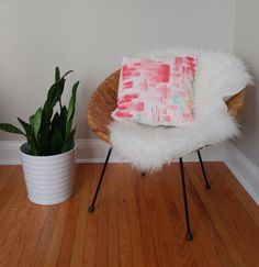 Sewing Pillows, Abstract Watercolor, Hand Painted, Chair, Trending Outfits, Handmade Gifts, Etsy, Furniture, Home Decor