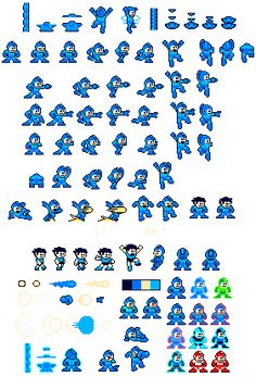 NES color like GB Megaman sprites by IcePony64