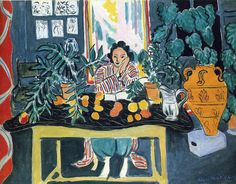Interior with Etruscan Vase, 1940, Henri Matisse Size: 73.5x108 cm