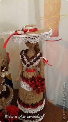 Мастер-класс Поделка изделие Моделирование конструирование Кукольные доделки Клей Кофе Кружево фото 10 New Crafts, Arts And Crafts, Sisal, Coffee Bean Art, Woolen Craft, Twine Crafts, Cafe Art, Altered Bottles, Art N Craft