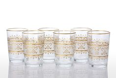 Laced Moroccan Tea Glass Set, Gold    $49.00