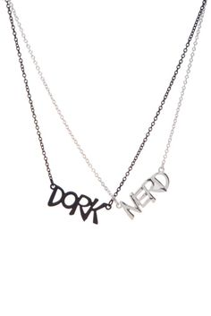 Dork And Nerd Best Friend Necklaces | Hot Topic