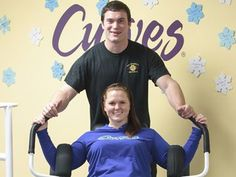Tottenham gym raises money for Alliston hospital - Darcy Lovegrove gets a little help from Connor Murphy at Curves in Tottenham at an event to raise money for the Stevenson Memorial Hospital Foundation in Alliston.
