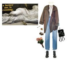 """a better me is coming"" by francoise-hardly ❤ liked on Polyvore featuring Vetements, Chico's and Dr. Martens"