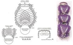 Imagem relacionada Freeform Crochet, Crochet Motif, Crochet Patterns, Crochet Necklace Pattern, Crochet Home, Bath Accessories, Doilies, Diy And Crafts, Projects To Try