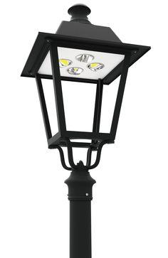 Classic design led post top light fixtures led pt 720 series series led post top lantern light fixtures americana post top area luminaire duke light co aloadofball Image collections