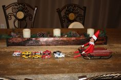 Elf on the shelf/ Elf on the shelf easy/ Santa Sleigh/ Disney cars/ Disney planes/ hot wheels/ cars/ trucks/ toddler
