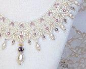 Joyería nupcial, perla del cordón del grano blanco Weaving Collar - 501