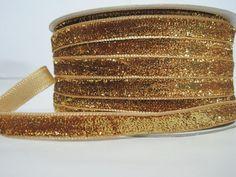 5 Yards Gold Metallic Glitter Ribbon Glitter yarn, Metallic ribbon, Yellow Velvet Ribbon, Go Glitter Ribbon, Blue Glitter, Bulk Ribbon, Wholesale Ribbon, How To Make Headbands, Purse Handles, Gold Ribbons, Velvet Ribbon, Great Gifts