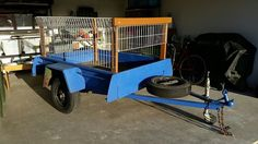 Great 6 X 4 garden trailer with cage. Refurbished mirboo timber floor, new wiring and lights, new coupling, new jockey wheel. $450.  041 751 1083. Pt Lonsdale. #rangloo, #bar, #accessories