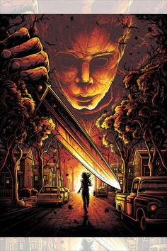 Hero Complex Gallery has released a series of Dan Mumford posters inspired by Halloween, Hellraiser, Friday the and A Nightmare on Elm Street. Each screen print is limited to 250 and costs. Horror Movie Characters, Horror Movie Posters, Movie Poster Art, New Poster, Film Posters, Halloween Movies, Halloween Horror, Scary Movies, Comedy Movies