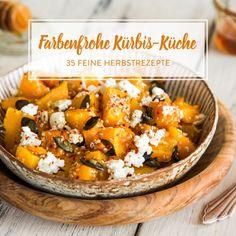 Herbst vom Blech: Gerösteter Ofenkürbis mit Feta und Sesam
