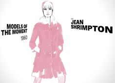 Jean Shrimpton by Shira Barzilay l 1960 l #ModelsoftheMoment