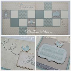 winter layout by Christine Adams... using CTMH Frosted paper