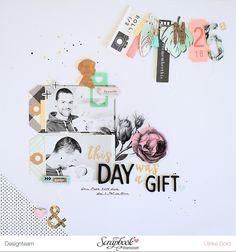 Layout *This Day Was A Gift* - Scrapbook Werkstatt Sketch des Monats Nov. 2016 - Crate Paper / Maggie Holmes *Gather* - von Ulrike Dold