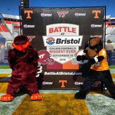 battle at bristol. pumped! Virginia Tech will win and tennessee will loose