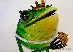 カエルの置物 アイアンアニマル メタルフロッグス プリンセス