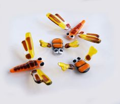Fused glass insects fridge magnets by Julia Rezinsky, via Behance