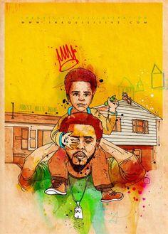 J Cole - Inkquisitive illustrations Trey Songz, Big Sean, Rita Ora, Ryan Gosling, Nicki Minaj, Trill Cartoon, Hip Hop Art, King Cole, Dope Art