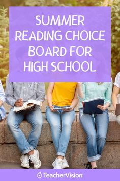 A fun summer reading choice board for high school students! Perfect for summer learning, these reading activities include a fun reading project that help with your students reading or comprehension skills. Reading Projects, Reading Resources, Reading Activities, Reading Skills, Summer Activities, Teacher Resources, Reading Record, Choice Boards, Summer Reading Lists
