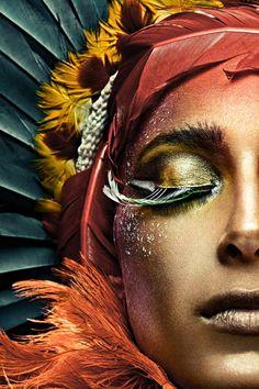 Eye Makeup Tips.Smokey Eye Makeup Tips - For a Catchy and Impressive Look Make Up Art, Eye Make Up, Beauty And Fashion, Henna Tattoos, Fantasy Makeup, Fantasy Art, Face Art, Cleopatra, Face And Body