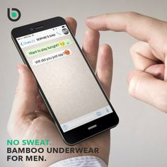 This is something you probably all have experienced. Sending a sensitive message to the totally wrong person. No sweat, we've got your back! #message #wrong #person #nosweat #bamigo #mensunderwear