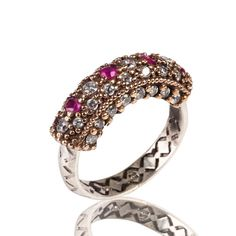 The Zerbap Afif  Ring with Zircon Ruby Stones by Rosestyle on Etsy, $25.00
