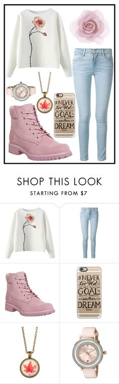 """192: Dream of Roses"" by alinepelle ❤ liked on Polyvore featuring Frame Denim, Timberland, Casetify, Ted Baker and Accessorize"