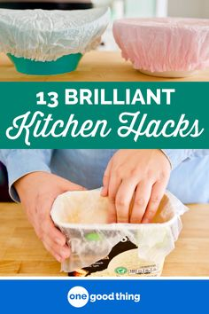 Whether you're cooking up a gourmet meal or just trying to get dinner on the table, these 13 clever kitchen hacks will save you time, energy, and stress! #timesavers #tipsandtricks