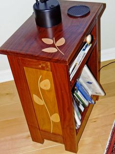 Quality side table with a unique leaf pattern in it