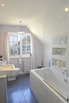 Awesome Dream Cottage with Ocean View : Fancy Whitstable Cottage Bathroom Screened Shower Small Window