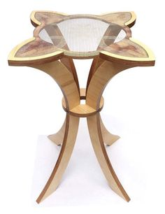 Emma Britton has teamed up with furniture designer Jack Mathieson to produce the pedestal table