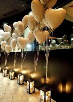 Wedding aisle decoration oder draußen am weg. Bloß normale Luftballons und kei – FİTNESS CENT… Wedding aisle decoration or outside on the way. Just normal balloons and no – FİTNESS CENTER, # Just # outside Lantern Centerpiece Wedding, Wedding Balloon Decorations, Engagement Party Decorations, Wedding Balloons, Wedding Centerpieces, Gold Balloons, Engagement Balloons, Confetti Balloons, Engagement Dinner Ideas