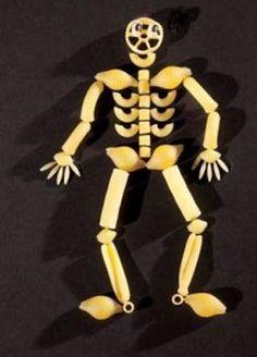 CLUB DE IDEAS   Esqueleto con pasta ~ La Eduteca