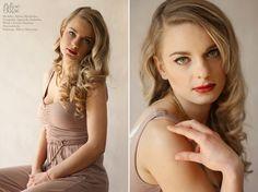 """Hollywood Glam"" wedding makeup and hair. / Photography: Agnieszka Szalinska / Model: Milena Miedzielec / Makeup & Hair: Karolina Matyaszewski for Calym Sercem."