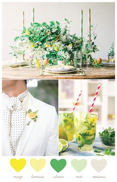 Color Palette: Mango and Cilantro - color palette from The Sweetest Occasion