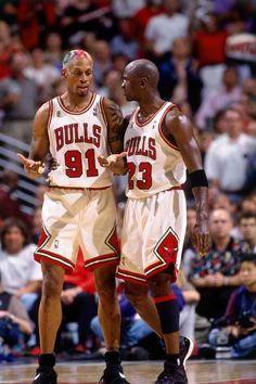Dennis Rodman Michael Jordan Chicago Bulls
