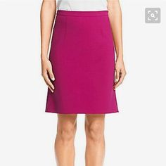 Diane Von Furstenberg Eliza pink pencil skirt This gorgeous pink/fuschia pencil skirt with pleating in the back is from Diane Von Furstenberg's Eliza collection which is pretty much sold out everywhere. Diane von Furstenberg Skirts Pencil
