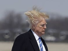 12 Photos Of Trump Boarding Air Force One On A Very Windy Day Donald Trump Hair, Donald Trump Twitter, Baby Fist, Don Jon, David Mack, Star Wars, Windy Day, The Thing Is, Air Force Ones