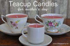 I've been wanting to make some Teacup Candles for a while now, and thought Mother's Day was the perfect occasion. Hope you like this little homemade Mother's Day gift idea. I started out with some ...