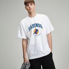 #반팔 #그래픽 #디자인 #오버핏 #라운드 #스쿨 #데일리 #그래픽디자인 #DESIGN #GRAPHIC #WHITE #OVERFIT #LOOK #OOTD White T, Mens Tops, T Shirt, Fashion, Supreme T Shirt, Moda, Tee Shirt, Fashion Styles, Fashion Illustrations