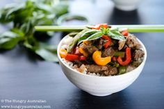 Beef Stir Fry Recipe - A delicious beef stir fry, perfect for a quick dinner. By Christina Soong-Kroeger