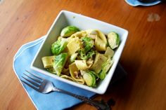 Brussel Sprouts with Lemon Pasta