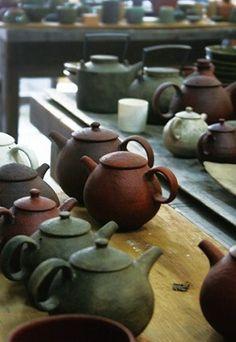 Chinese tea pots.  A lot!