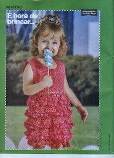 Mania de Tricotar: Vestido de crochê