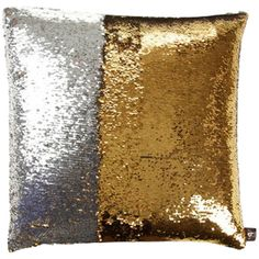 Aviva Two Tone Mermaid Sequin Pillow in Silver/Gold