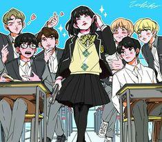 BTS em anime e fanart (parte Bts Chibi, Foto Bts, Bts Photo, Yoonmin, Bts Suga, Bts Bangtan Boy, Bts Memes, Flipagram Video, Bts Anime