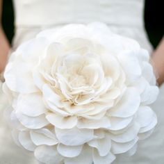 it's a single handmade giant flower bouquet!  love!!  Image of bridal bloom, fabric wedding bouquet